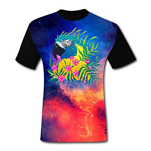 - Mens Fantasy Parrot Art Adult T-Shirt Short Sleeve Tees XXL