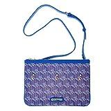 A146.Disney Mickey Mouse M Women Clutch Shoulder Cross Body Bag Faux Leather (Purple)