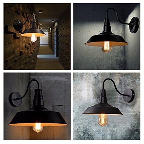 Jeteven Metal 1-light Wall Sconce Lamp Shade Industrial