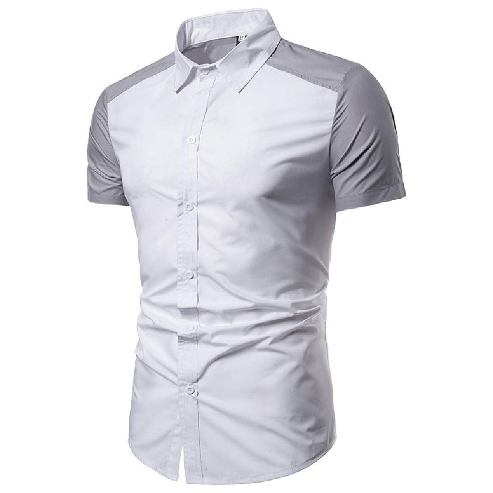 Coolred-Men Blouse Casual Trim-Fit Assorted Colors Short Sleeve T-Shirt