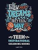 Teen Inspirational Coloring Books: Positive