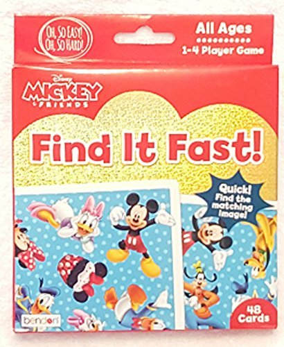 Find Card - Mickey and Friends Find It Fast! Card Game (48 cards - All Ages)