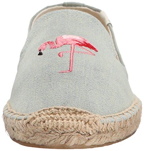 Soludos Flamingo Geborduurde Smoking Slipper Chambray