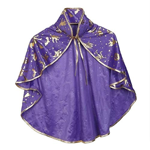 Sala-Store - Adults Children Halloween Decorations Witch Wizard Cloak Gown Robe and Hat Masquerade Party Cosplay -