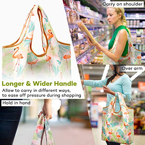 323d8e8c5c1d Reger Foldable Nylon Light Weight Compact Grocery Shopping Storage Bags  Reusable & Mathine Washable Fits in Pocket Eco Friendly