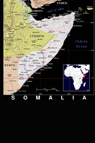 Modern Day Color Map of Somalia in Africa Journal: Take Notes, Write Down Memories in this 150 Page Lined Journal