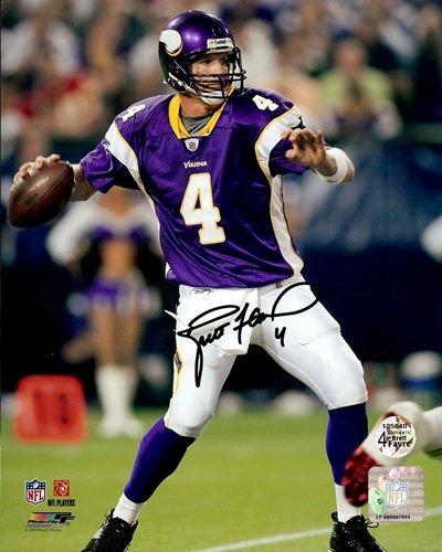 Brett Favre Autographed/Signed Minnesota Vikings 16X20 NFL Photo #1