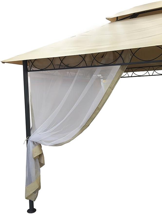 Cortinas mosquiteras para carpa-cenador YF3236G L 300 H 400 cm. (4 unidades).: Amazon.es: Hogar