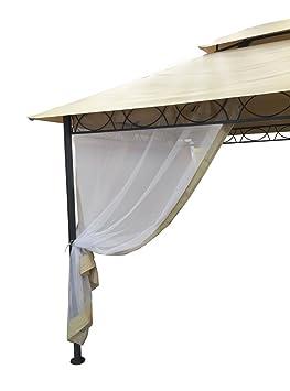 Rideau Moustiquaire pour Tonnelle YF3236G L300h400cm. 4 Pièces ...