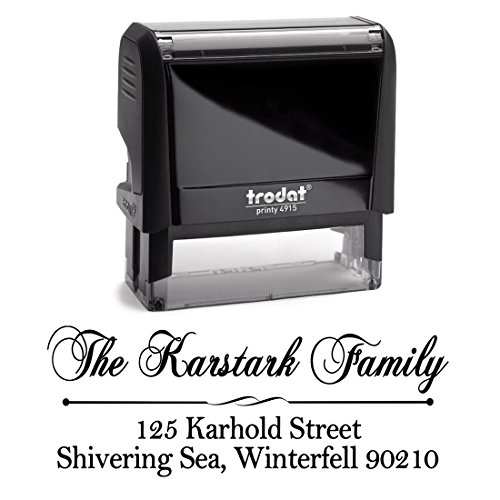 Black Self Inking Stamp Black Return Address Mail Stamper Custom Personalized Address Large 3 Lines Professional Wedding Gift Invitation Branding by Pixie Perfect Stamps