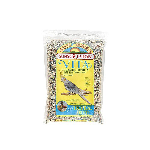 Sun Seed Vita Cockatiel Bird Food 6lb, My Pet Supplies