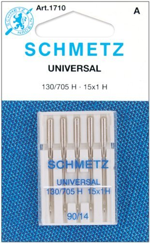 25 Schmetz Universal Sewing Machine Needles 130/705H 15x1H Size 90/14