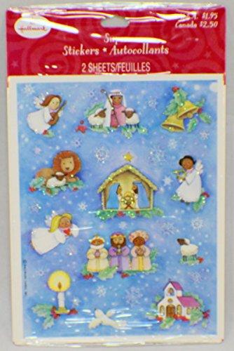 Hallmark Cards Christmas Holiday Nativity Mary Joseph Baby Jesus Sticker pack