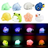 Winkey Toy for Baby Kids Boy Girl, Shower Toy Baby Bath Toy Auto Color Changing LED Lamp Light Vinyl Toy Teether,Bath Toys