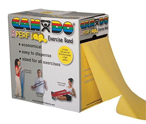 CanDo Perforated Exercise Band, Yellow by Cando