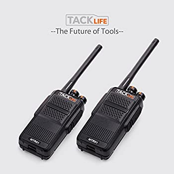 Tacklife Mtr01 Advanced Two-way Radio With Rechargeable 1300mah Li-ion Battery Uhf 400-470mhz Transceiver Earphone Long Working Distance 16 Channels Walkie Talkie | 2 Pcs 8