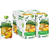 Sprout Organic Baby Food Pouches Sprout Organic Power Pak Toddler Food Pouch, Tropical Fusion with Superblend, 4 Ounce (Pack of 12); USDA Organic, Non-GMO, 3 Grams of Protein, Plant Powered