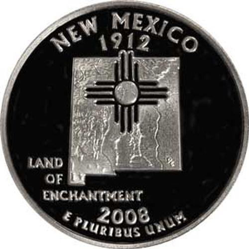 (2008 New Mexico S Gem Proof State Quarter US Coin)