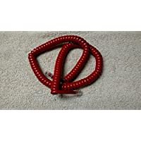 Lot of 10 Cherry Red 12 Ft Generic Handset Phone Coiled Cords EXPEDITED SHIPPING by DIY-BizPhones