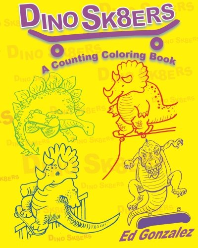 DinoSk8ers Counting Coloring book Gonzalez product image