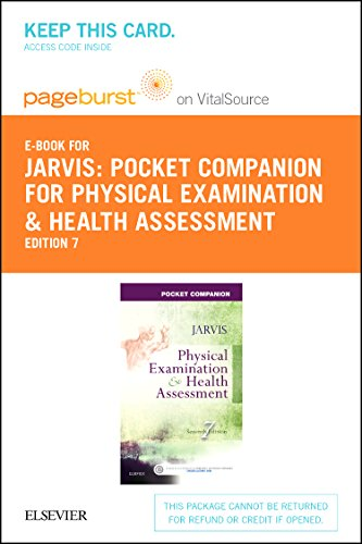 Pocket Companion for Physical Examination and Health Assessment - Elsevier eBook on VitalSource (Retail Access Card), 7e by Saunders