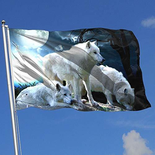 BQCHMBO Wolf Moon Party Flag,Home Flag,garden Flag,100% Poly