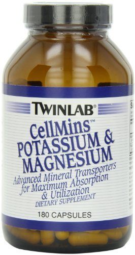Twinlab CellMins Potassium and Magnesium, 180 Capsules (Pack of 2)