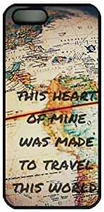 This Heart Of Mine Was Made To Travel This World Quote For SamSung Galaxy S5 Mini Phone Case Cover PC Material Black