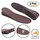 Height IncreaseInsolesInserts2-LayerAdjustableAir CushionHeelsShoes PadElevatorLift Kitfor Women& Man (2 Pair)