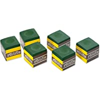 Formula Sports Pioneer Snooker Pool Billiards Cue Chalk, 6 Pieces Pack, Green