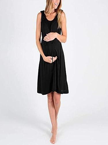 Gusspower Vestido de Maternidad Lactancia de Mujer, Cómodo Vestido de Embarazada de sin mangapremamá: Amazon.es: Ropa y accesorios