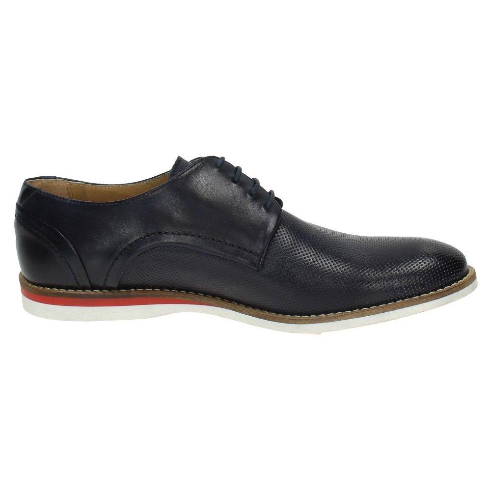 ZAPATOP 10225 Leder Schuh Schuh Schuh Blau Herren Schuhe Kordel 1a471e