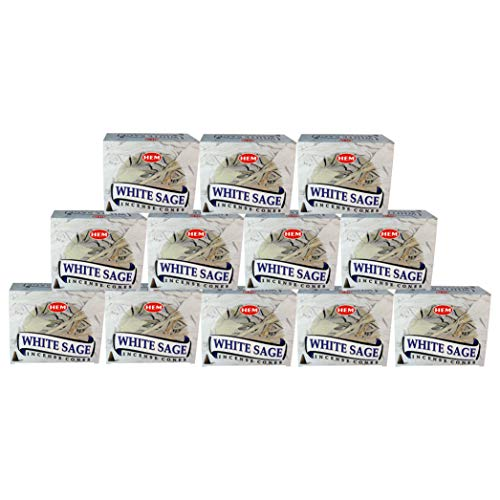 White Sage - Case of 12 Boxes, 10 Cones Each - HEM Incense