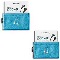 UT Wire Pocket Earbud Earphone Case Pouch Bag Organizer (Blue) - 2 Pack