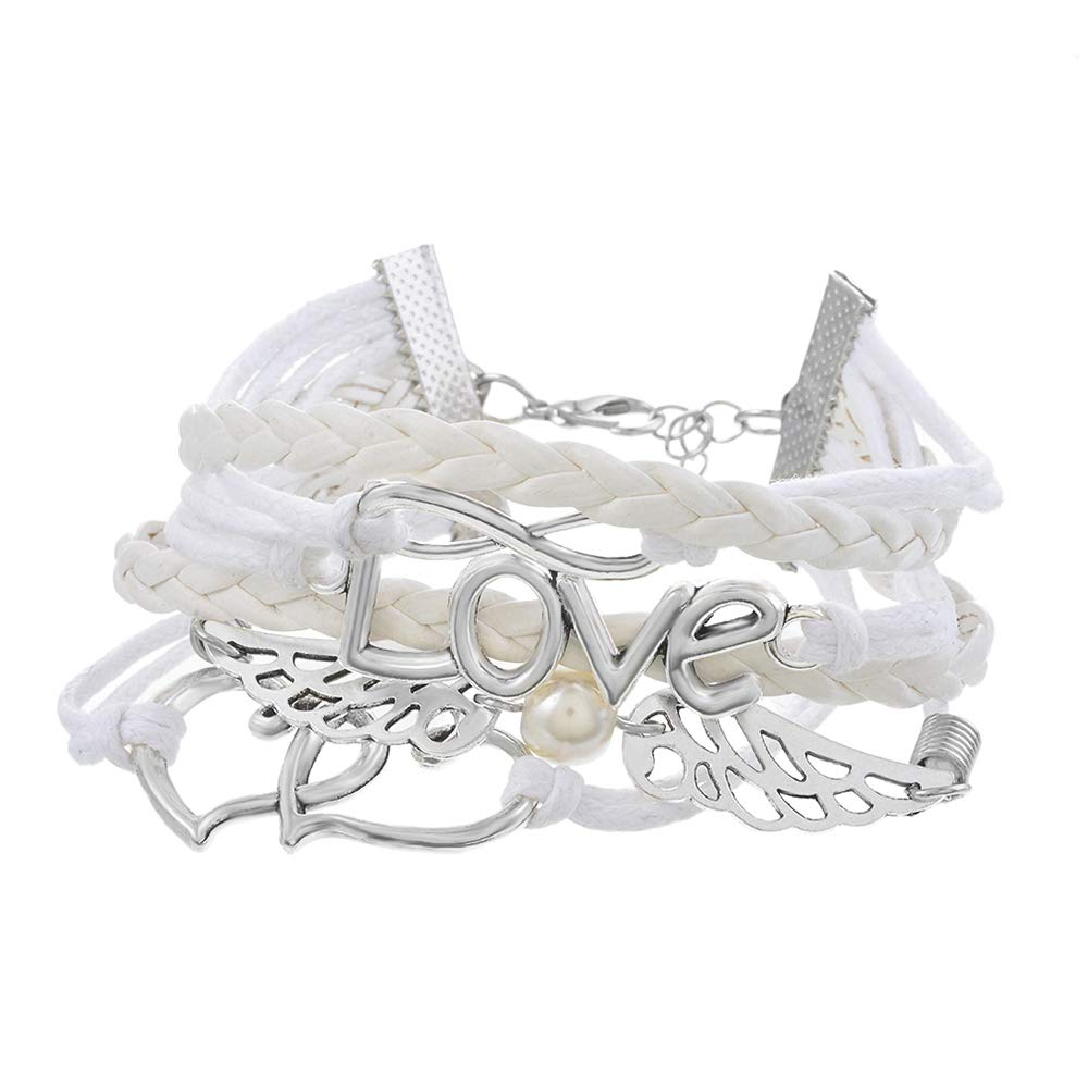 White Friendship Bracelet Brai...