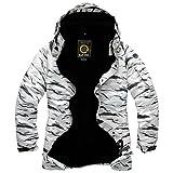 Mens Premium White Desert Ski Snowboard Boardwear Hood Jacket Jumper (White, Large)