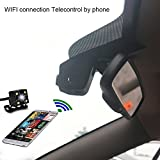 Universal Built-in WIFI Car hidden DVR Dash Camera Cam Digital Video Recorder Camcorder 1080P Night Version GP1248 CPU car driving recorder camera front and back (Two cameras-front and back)-A5B