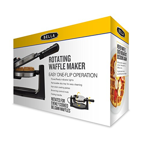 BELLA 13991 Classic Rotating Belgian Waffle Maker, Polished Stainless Steel by BELLA (Image #5)