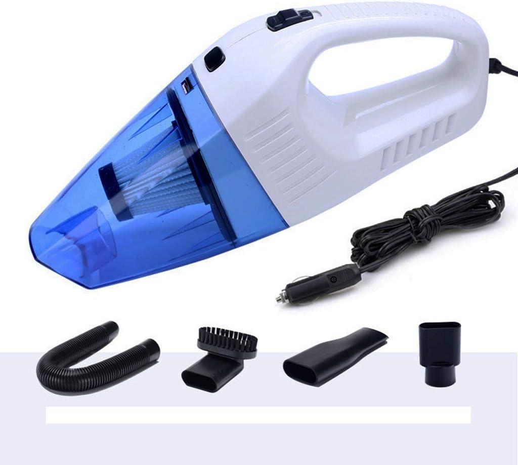 Lgan Aspirador de automóvil, Kit de aspiradora portátil de Alta Potencia, húmedo, seco y portátil 12V 4KPa 16.4 pies (5 m) Cable de alimentación.: Amazon.es: Coche y moto