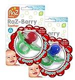 RaZbaby RaZ-Berry Silicone Teether / Double Pack Red &...
