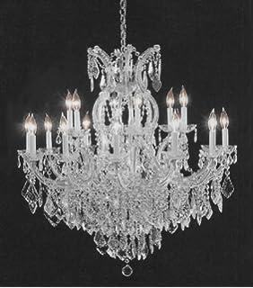Swarovski crystal trimmed chandelier large foyer entryway maria swarovski crystal trimmed chandelier crystal chandelier h38 aloadofball Image collections