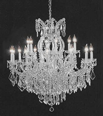 Swarovski crystal trimmed chandelier crystal chandelier h38 w37 amazon com