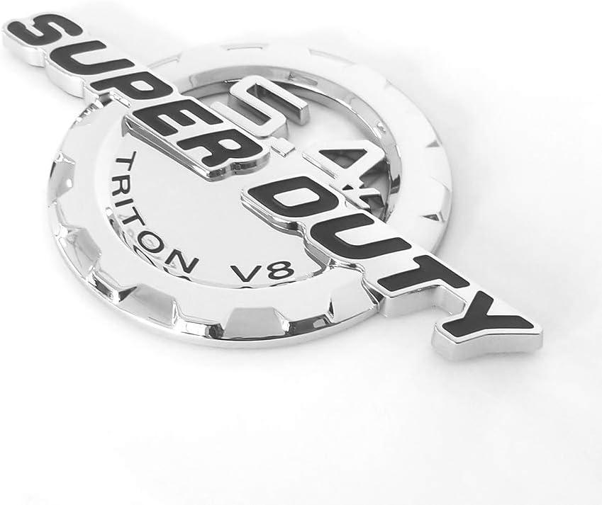 2pcs OEM 5.4L Super Duty Triton V8 Side Fender 3D Logo Emblems Superduty Badge Replacement for F250 F350 5.4 Red Black