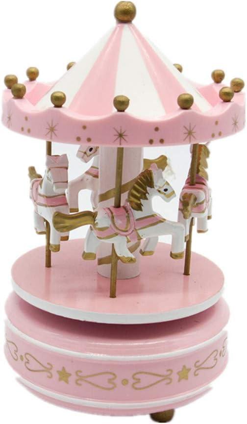 Christmas Book Musical Box /& PopUp Book Moving Working Carousel Lovely Keepsake