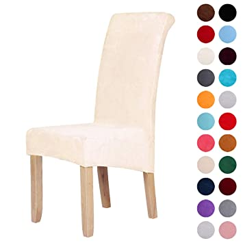Amazon Com Velvet Stretch Dining Chair Slipcovers Spandex Plush