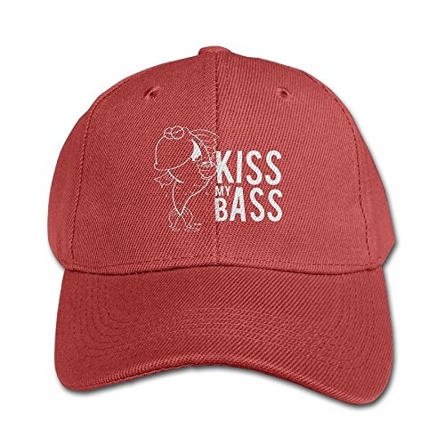 Kiss My Bass Kid Leisure Hats Red