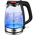 Aicok Glass Electric Kettle 1.7L Fast Water Kettle Premium Strix Thermostat Control Kettle