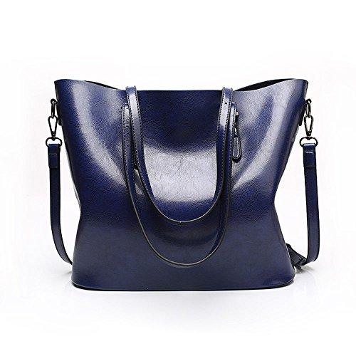 women leather handbags purses and handbags tote bag womens handbags and purses women bags leather brand 2017 ladies shoulder bags bolsos mujer pouch women shoulder bag (blue)