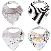 The Good Baby Bandana Drool Bibs – 4 Pack Baby Bibs for Boys, Girls, Unisex -...