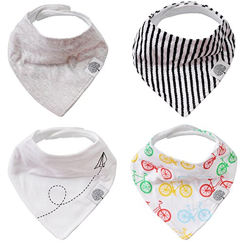 [The Good Baby Bandana Drool Bibs - 4 Pack Baby Bibs for Boys, Girls, Unisex -